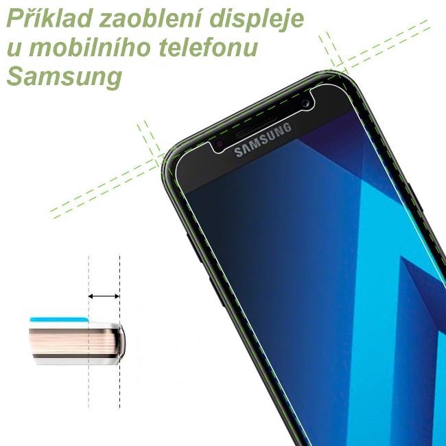 Příklad zaoblení displeje u mobilního telefonu Samsung